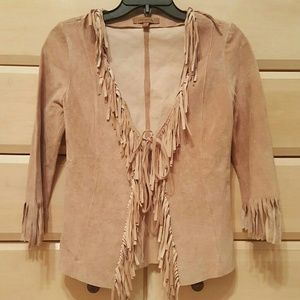 ARDEN B suede jacket with tassels sleeves